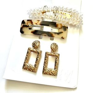 H&M hair clips & earring bundle